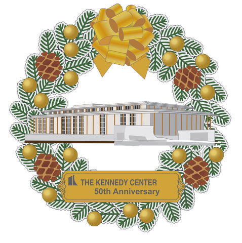 50-Year Anniversary Commemorative Wreath Ornament