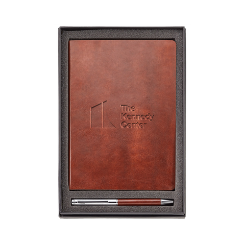 The Kennedy Center Leather Journal and Pen Gift Set
