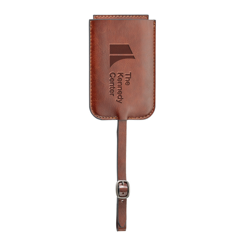The Kennedy Center Leather Luggage Tag