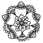 Melissa Lew Downloadable Coloring Page Mandala Flower