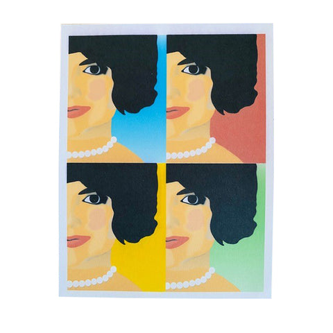 Mod Jacqueline Kennedy Single Notecard