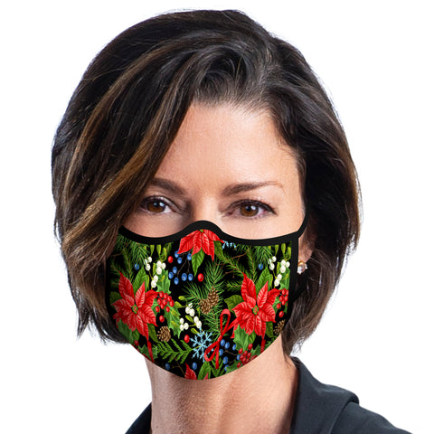 Holiday Poinsettias Face Mask