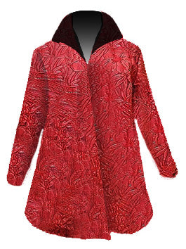 Festive Red Floral Holiday Jacket