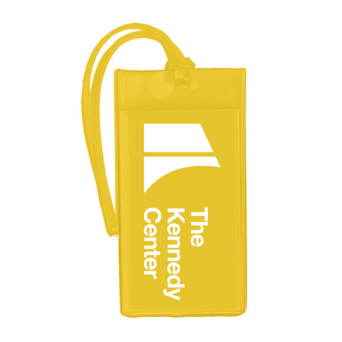 The Kennedy Center Logo Luggage Tag - Yellow