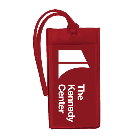 The Kennedy Center Logo Luggage Tag - Red