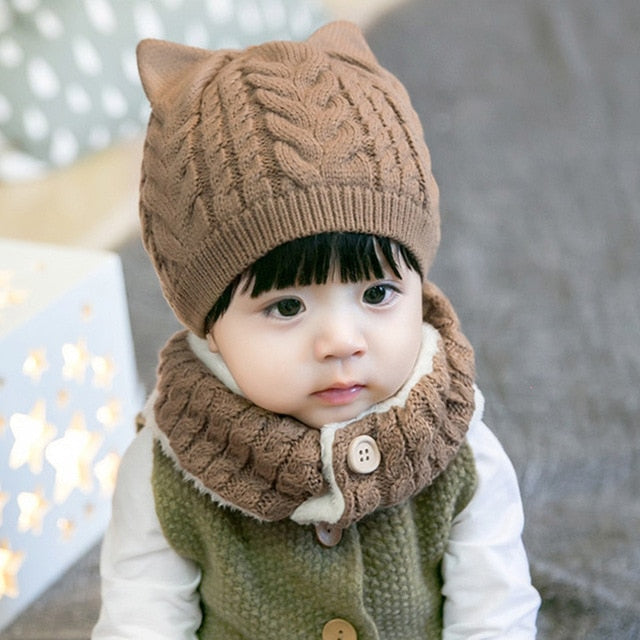 Plain Winter Hat and Scarf