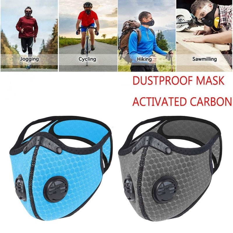 Anti Pollution PM2.5 Mouth Double valve Mask Dust Respirator Washable Reusable Masks N95