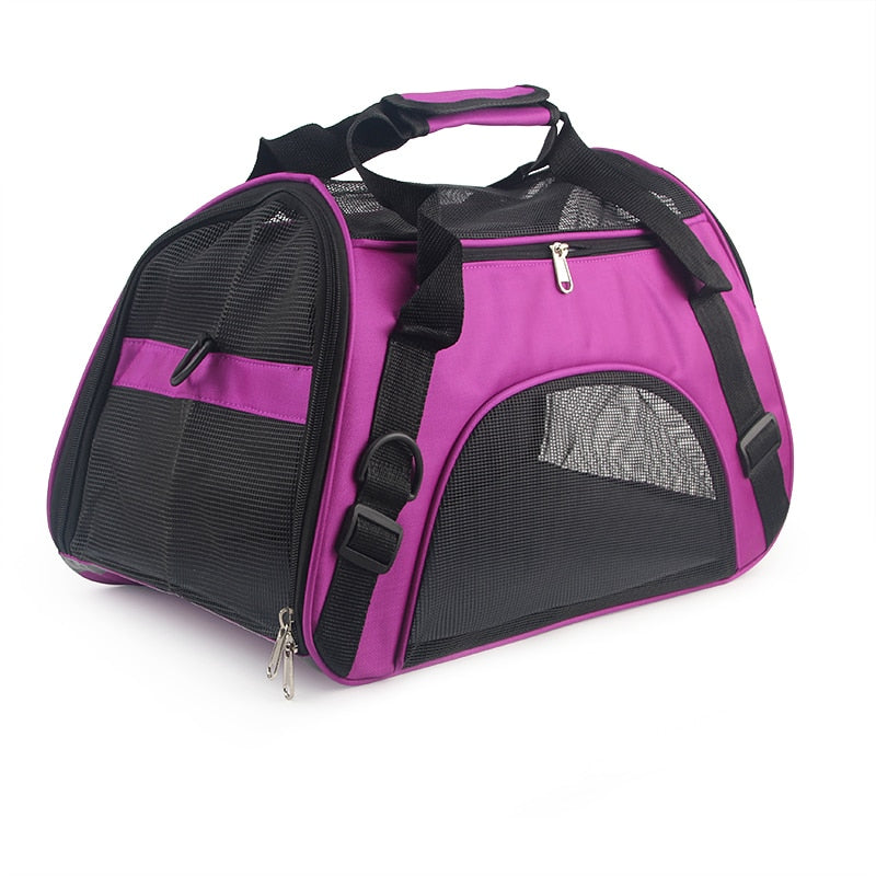 Soft-sided Carriers Portable Pet Bag Pink Dog Carrier Bags Blue Cat Carrier Outgoing Travel Breathable Pets Handbag