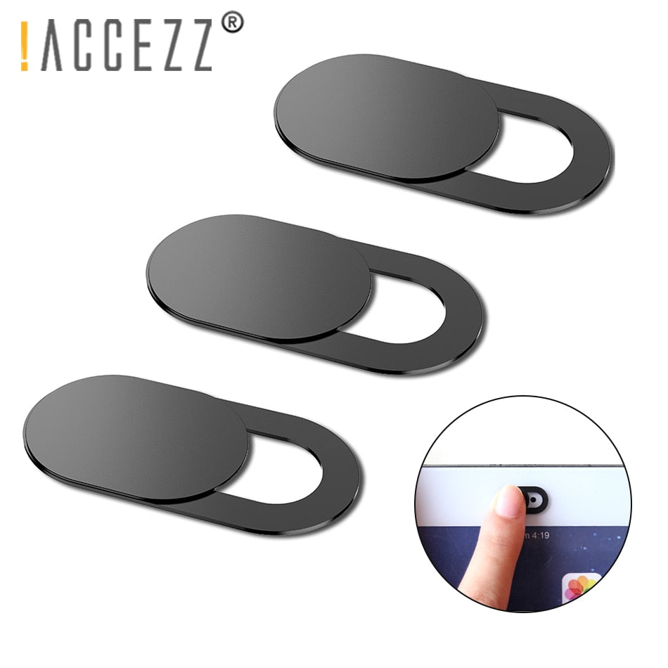 !ACCEZZ 6Pcs WebCam Cover Shutter Magnet Slider Plastic For iPhone Web Laptop PC iPad Tablet Camera Mobile Phone Privacy Sticker