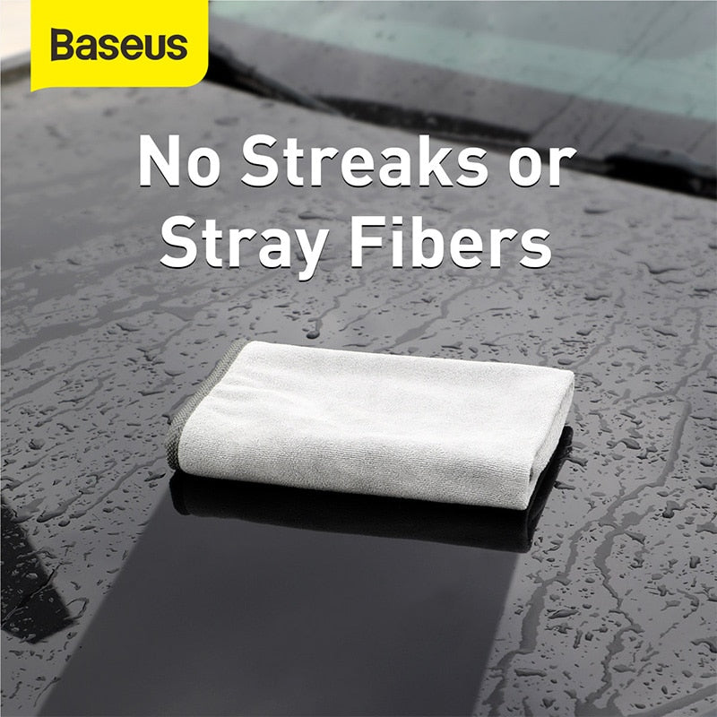 Baseus Car Wash Towel Microfiber Auto Cleaning Drying Cloth Car Washing Towels Car Care Detailing Car Wash Accessories