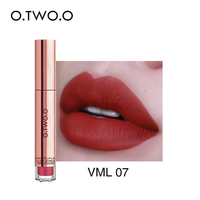 O.TWO.O 12colors Best Sale Hot Cosmetics Makeup Lip Gloss Long Lasting Waterproof Easy to Wear Matte Lipstick