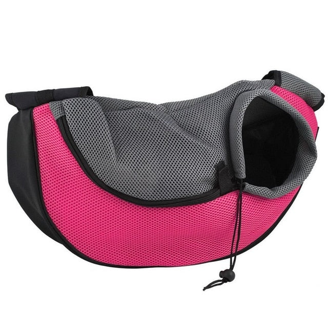 Pet Puppy Carrier Outdoor Travel Handbag Pouch Mesh Oxford Single Shoulder Bag Sling Mesh Comfort Travel Tote Shoulder Bag