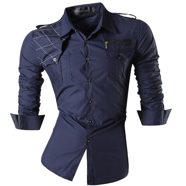 jeansian Spring Autumn Features Shirts Men Casual Jeans Shirt New Arrival Long Sleeve Casual Slim Fit Male Shirts Z034