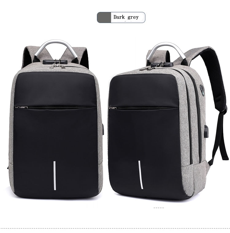 "OUBDAR Men Multifunction Anti Theft Backpack 15.6"" Inch Laptop Usb Charging Backpacks Waterproof Schoolbag Business Travel Bags"