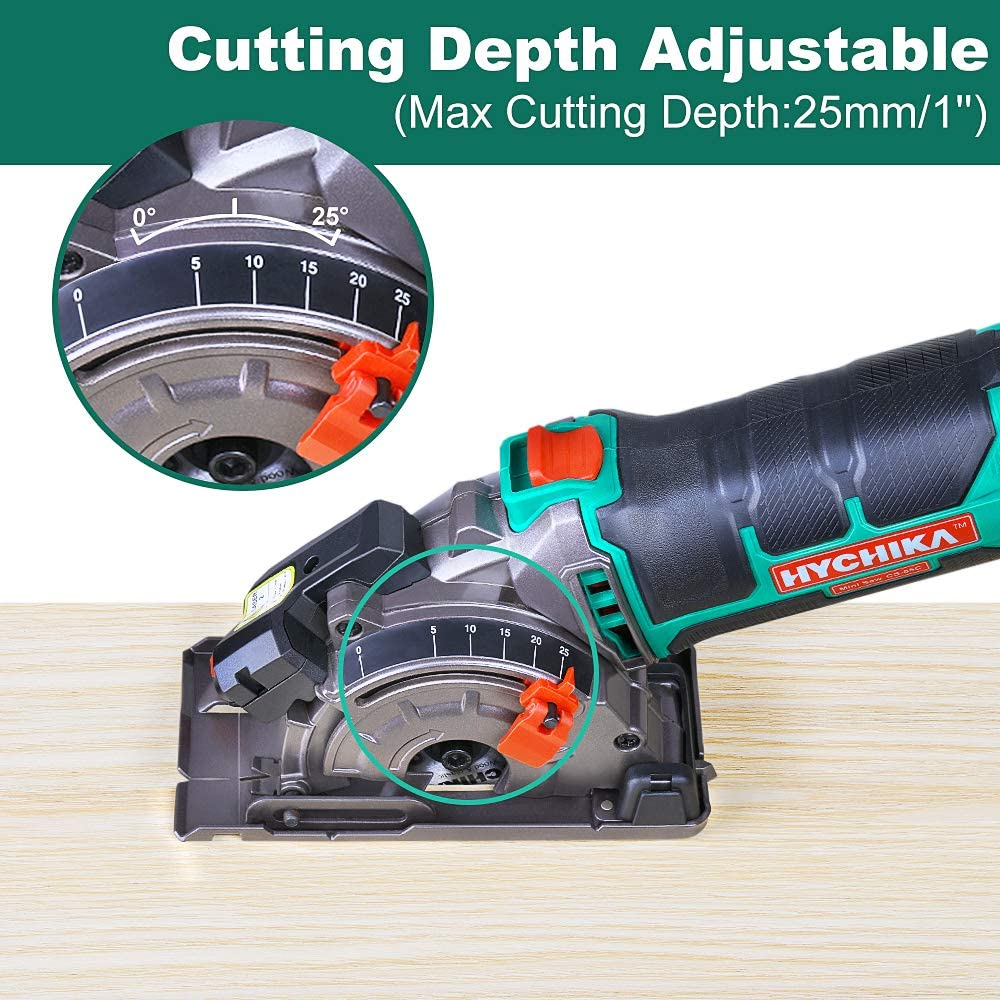 HYCHIKA Electric Mini Circular Saw Power Tools 500W Multifunctional Electric Saw With 3 Blade Saws and Blade Sawing Machine