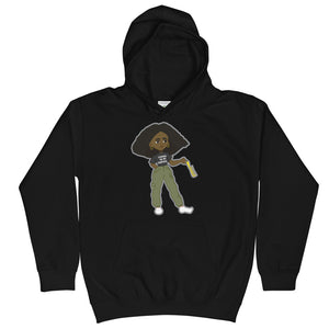 Comb For what? Kids Hoodie
