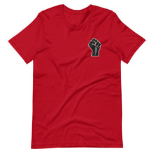 Load image into Gallery viewer, Black Power Fist Embroidered Unisex Tee