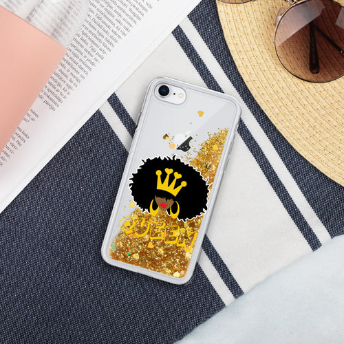 Natural Queen Liquid Glitter iPhone Case