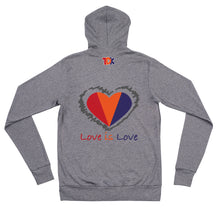 Load image into Gallery viewer, TDK has Heart... Unisex zip hoodie