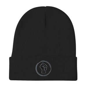 Black Unity Embroidered Beanie