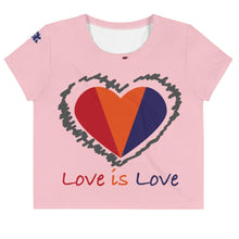 Load image into Gallery viewer, Love is Love Women's Crop Tee