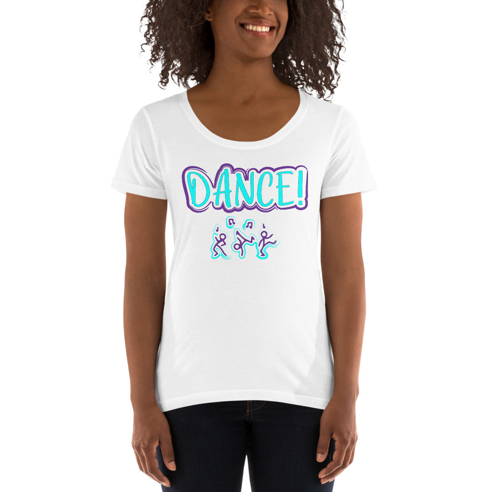 Dance Like No One is Watching Ladies' Scoopneck T-Shirt