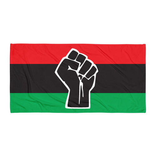 TDK Black Power Beach Towel