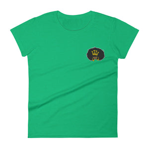 Natural Queen Embroidered Women's Tee