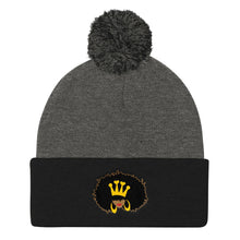 Load image into Gallery viewer, Natural Queen Pom Pom Knit Cap