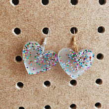 Load image into Gallery viewer, Multi Glitter Petite Hearts
