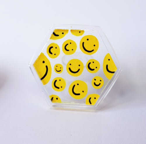 Classic Yellow Smiley Coaster