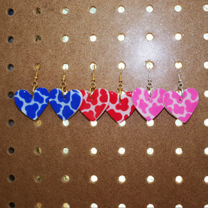 Colourful Cow-Print Petite Hearts