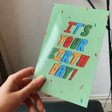Load image into Gallery viewer, 'It's Your Birthday!' Lettering Birthday Card