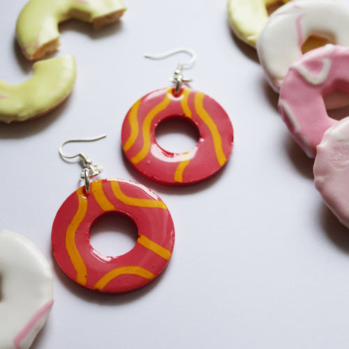 Glossy Sugar Rings in 'Pink Lemonade'