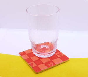 Mixed Feelings Coaster in 'Checkerboard'