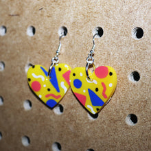 Load image into Gallery viewer, Memphis Petite Hearts in Yellow
