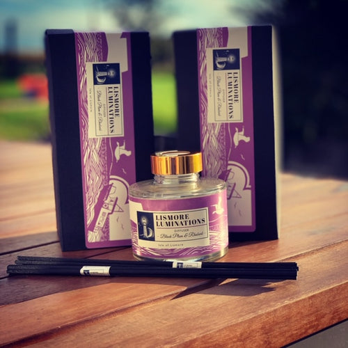 Luxury Reed Diffusers - Black Plum & Rhubarb. 165 ml Jar