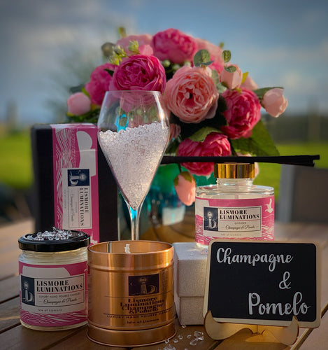 Champagne and pomelo Diffuser with ultra thick luxury reed diffusers.
