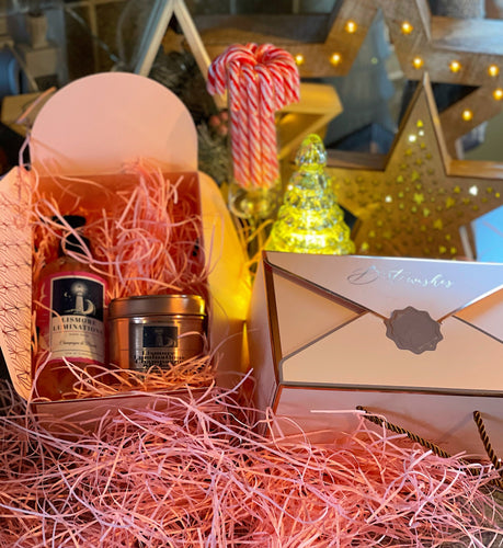 Champagne & pomelo gift box - rose gold box