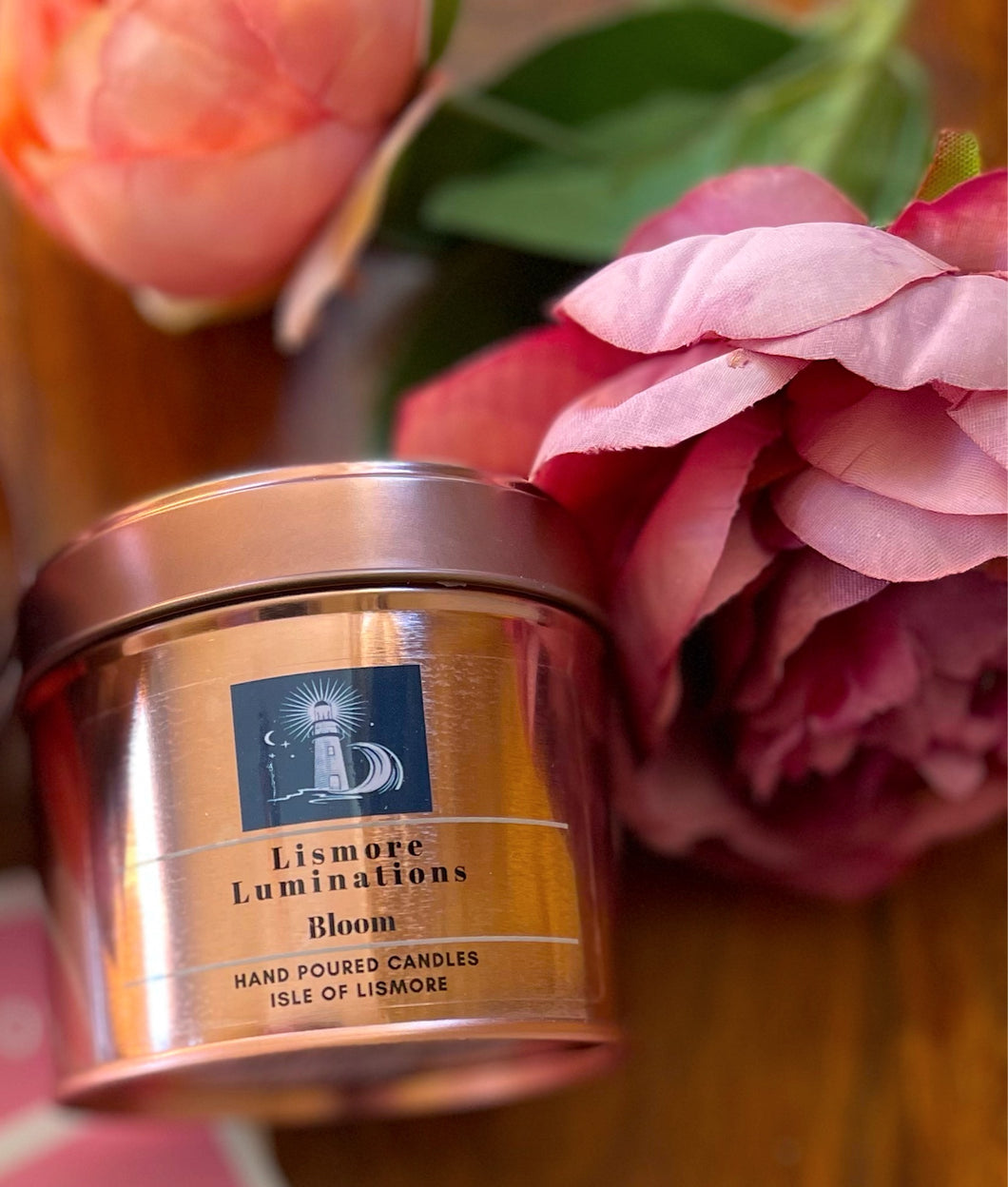Bloom  Candle - 8 OZ - Rose gold tin.