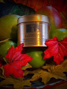 Thai lime & Mango - 8 oz rose gold tin.