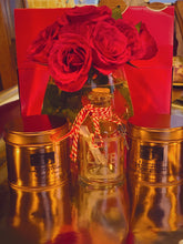 Load image into Gallery viewer, Ultimate Valentines Gift - 2 x candles & glass bottle