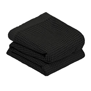Linens & More Waffle Blanket in Black