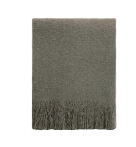 Linens & More Cosy Throw in Charcoal