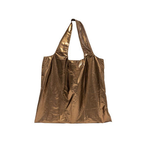 Four Corners Metallic Shoulder Travel Bag