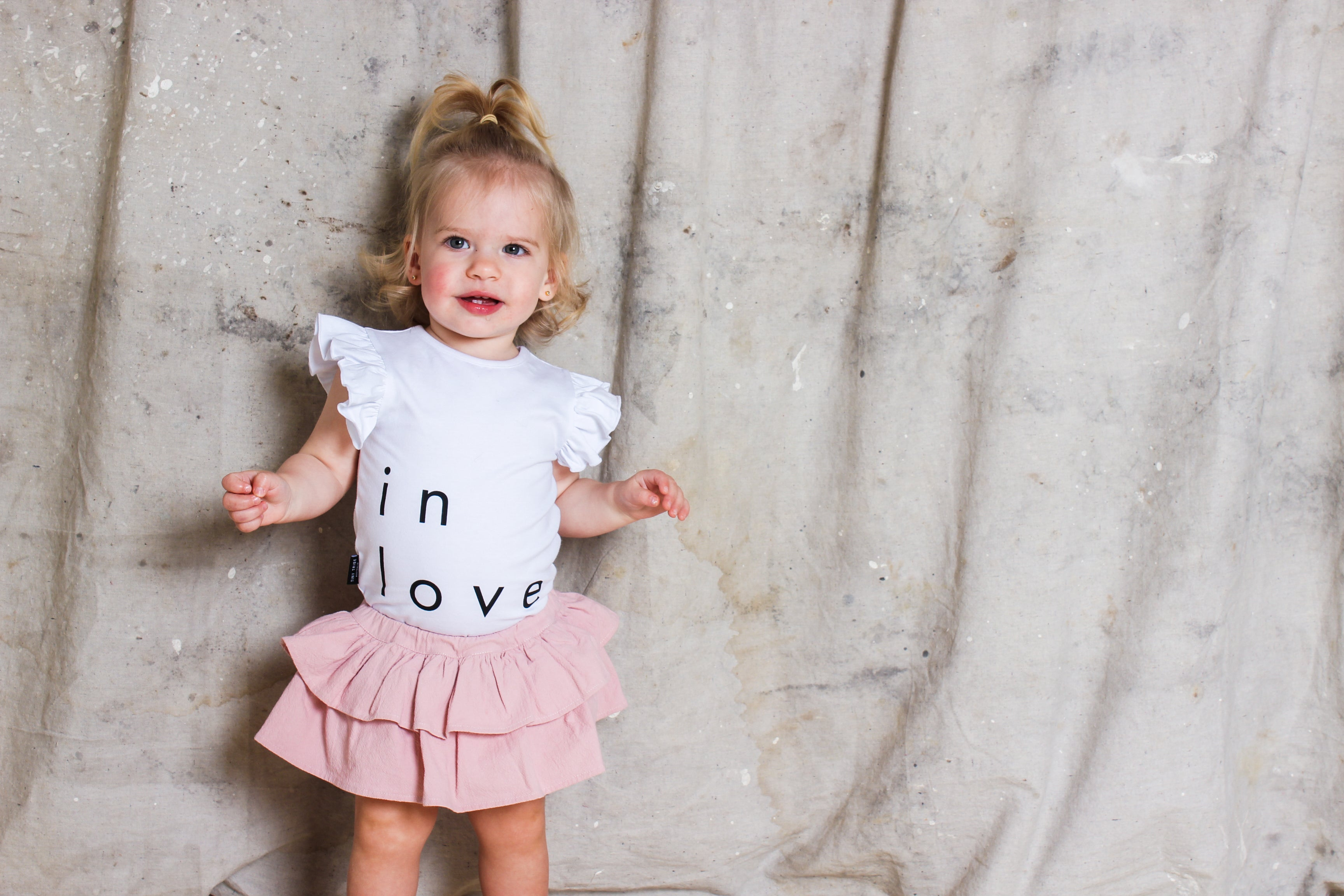 Tiny Tribe In Love Frill Tank