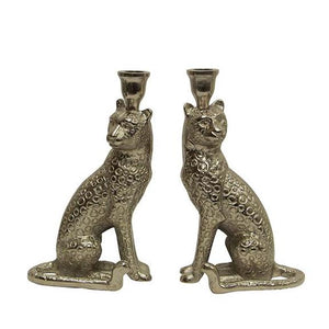 French Country Set of 2 Cheetah Candle Holder