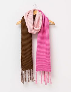 Stella & Gemma Copper/Powder Fringe Scarf