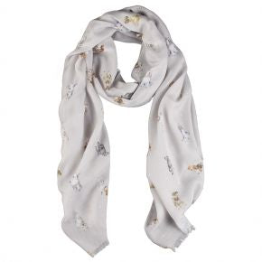 Wrendale Designs by Hannah Dale A Dog's Life Scarf