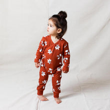 Load image into Gallery viewer, Tiny Tribe Autumn Leaves Cross Over Wrap Romper